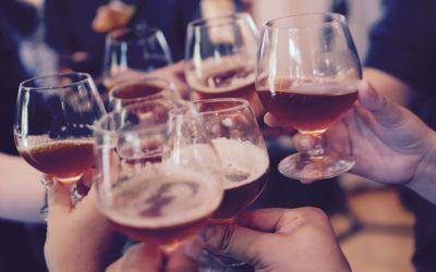 Glasses of wine clinking | CFHP